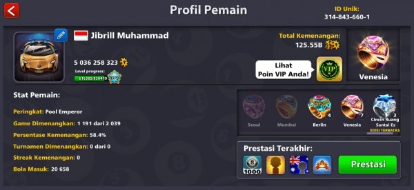 Akun 5b + legend murah