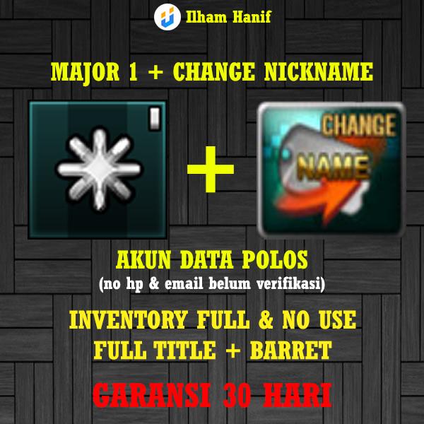 MAJOR GRADE 1 + CHANGE NICKNAME