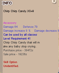 Chirp Chirp Candy XG+9 Clean