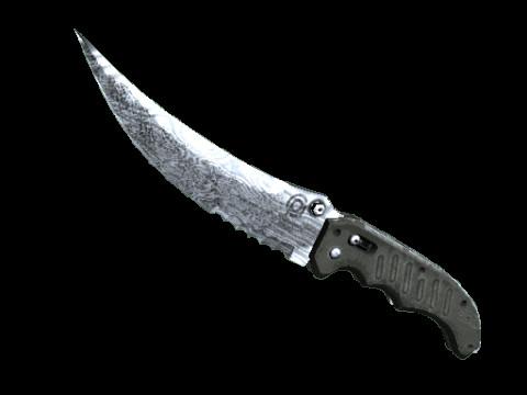Flip Knife   Damascus Steel (Field-Tested)