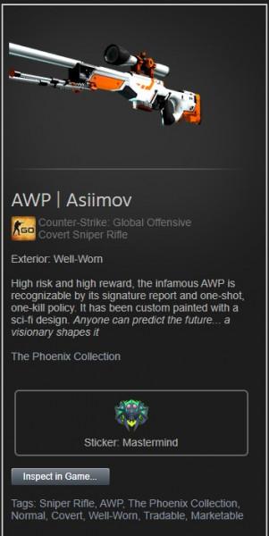 AWP | Asiimov (Well-worn)