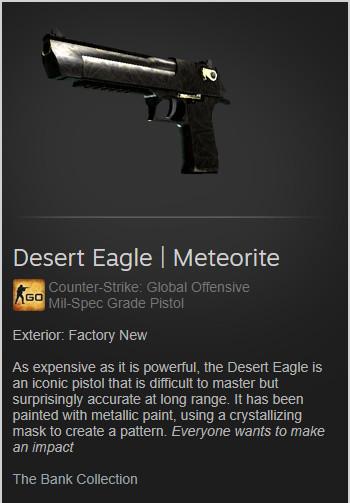 Desert Eagle | Meteorite (Mil-Spec Pistol)