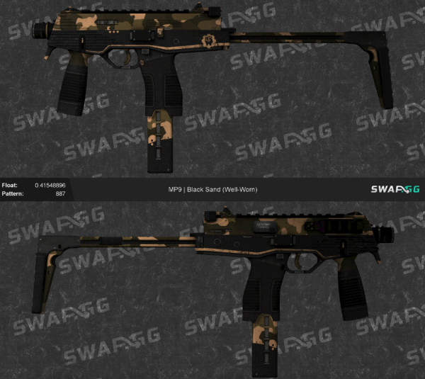 MP9 | Black Sand (Mil-Spec Grade SMG)