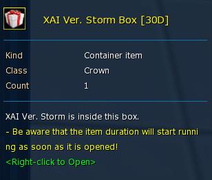 Xai Ver Storm 30D