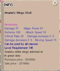 Amariel's Wing XG+9 (AW)