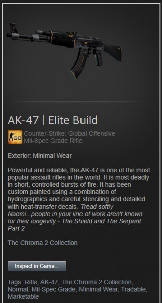 AK-47 | Elite Build (Minimal Wear)