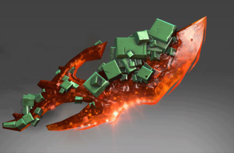 Inscribed Crimson Emerald Conquest