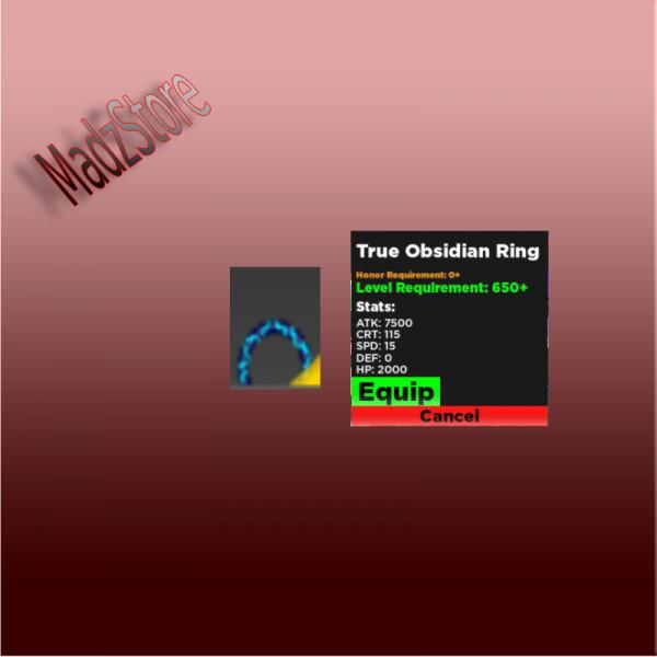 True Obsidian Ring - Rpg Simulator