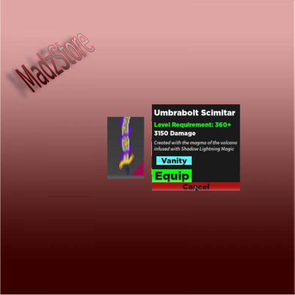 Umbrabolt Scimitar - Rpg Simulator
