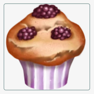 Muffin Beri Hitam / Blackberry Muffin