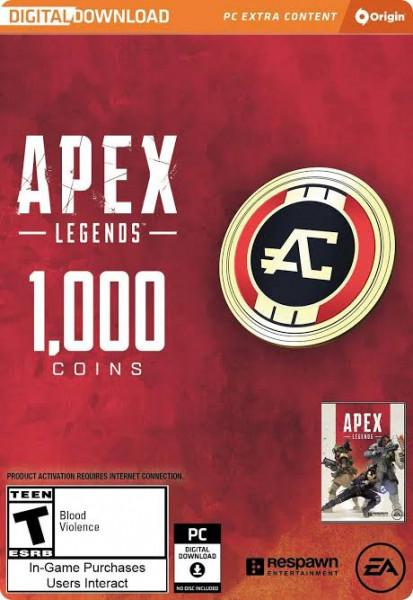 Origin CD Keys 1000 Apex Coins