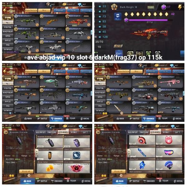 Akun game crisis action darkM frag 37