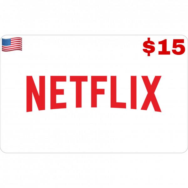 Netflix Gift Card US $15
