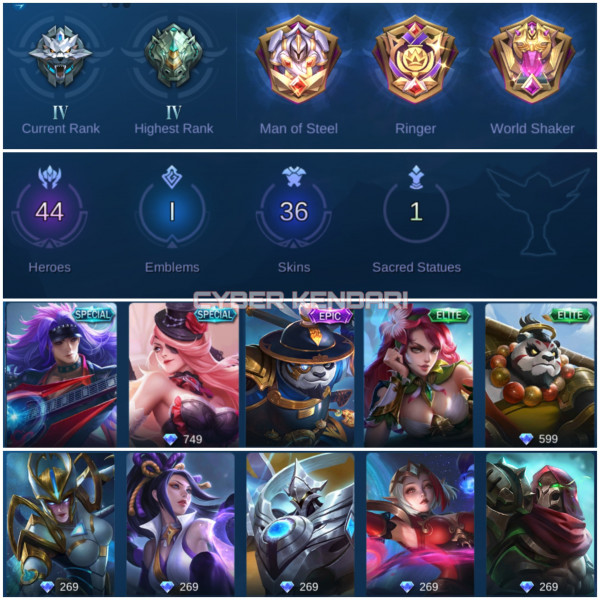 Mobile Legend Epic/Smurf/Hero Banyak/Skin GG