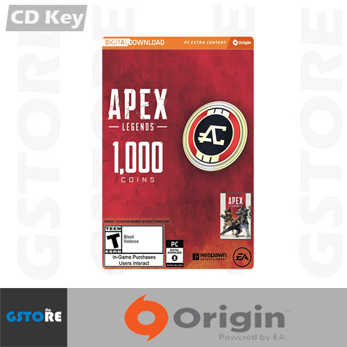 Origin CD Keys 1000 Apex Coins