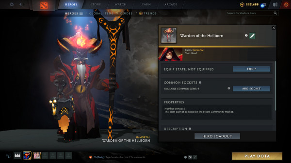 Warden of the Hellborn (Immortal TI10 Warlock)