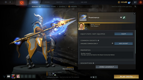 Prominence (Immortal TI10 Keeper of the Light)