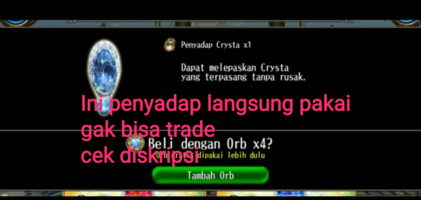 Penyadap crystal ( extraction)
