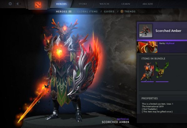 Scorched Amber (CC TI9 Dragon Knight)
