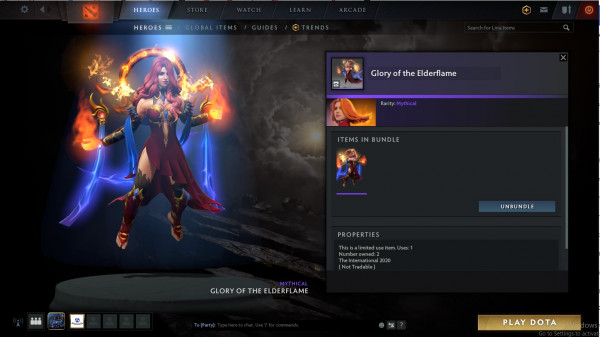 Glory of the Elderflame (Lina collector cache)