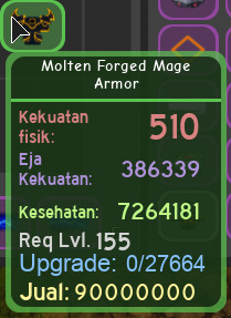 molten mage ijo armor dungeon