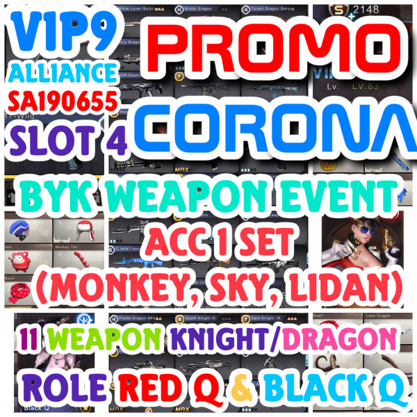 VIP9:11 WEAPON KNIGHT/BRUTAL+2 ROLE+ 3 SET ACC