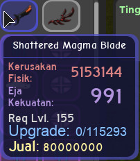 shattered magma blade blue dungeon