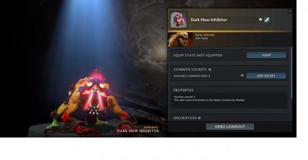 Dark Maw Inhibitor (Immortal Lifestealer)