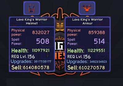 Lava King's Warrior Armor