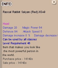 Rascal Rabbit Saiyan (Red) XG+9