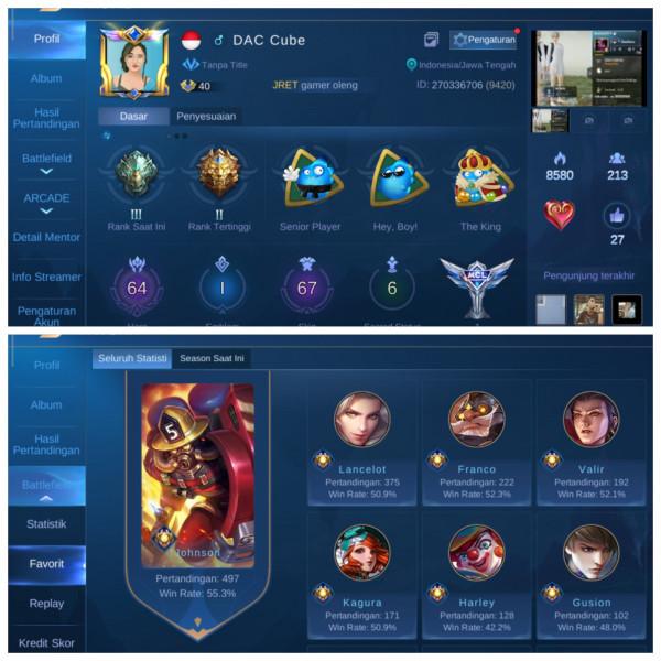 Akun Mobile Legend Epic Limit   Murah   37
