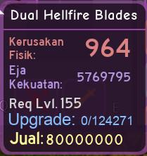 Dungeon Quest | Dual Hellfire Blades