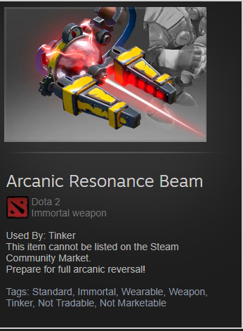 Arcanic Resonance Beam(Tinker Immortal)