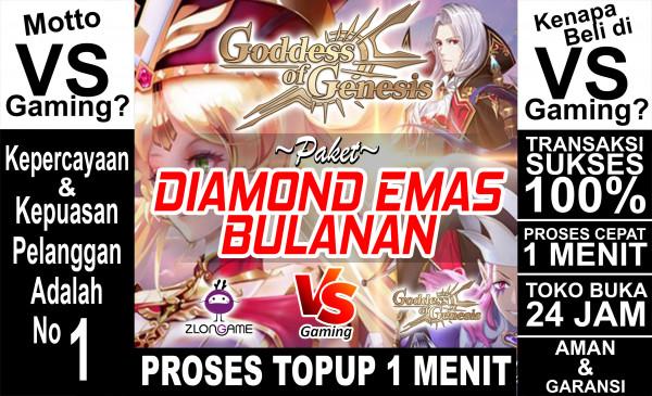 Paket Diamond Emas Bulanan