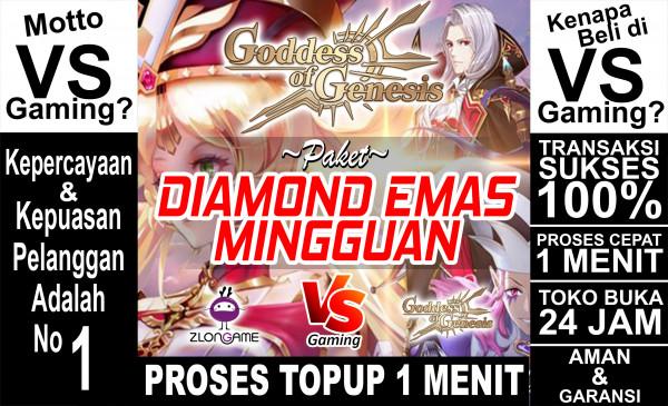 Paket Diamond Emas Mingguan