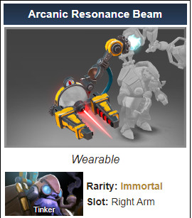 Arcanic Resonance Beam (Immortal Tinker TI 10)