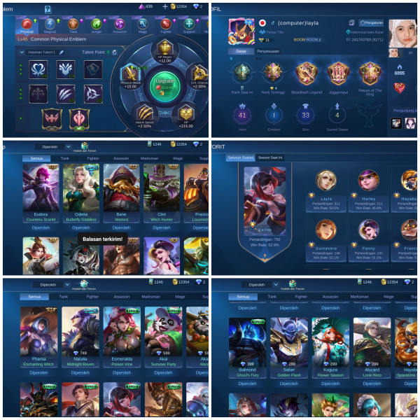 Akun  Mobile Legends ZhenStore