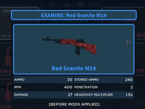 Zombie Stories Unique Red Granite M14