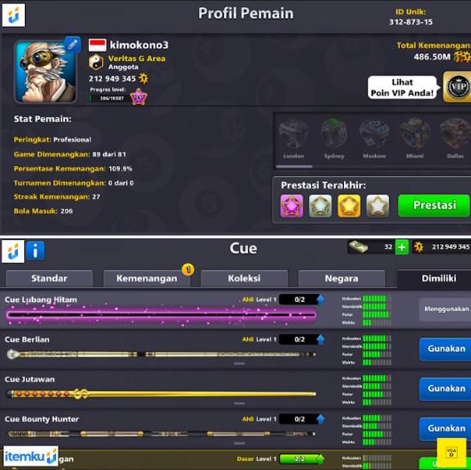 (LIMITED) UnikId 8Digit + Coin200M + 3CueExpert