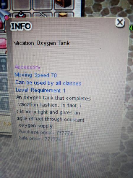 Vacation Oxygen Tank