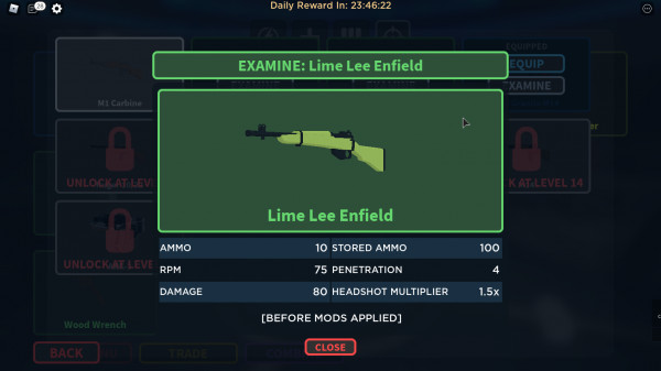 Zombie Stories Lime Lee Enfield
