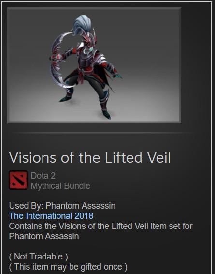 Visions of the Lifted Veil (Phantom Assasin Set)