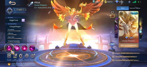 Divine Phoenix (Painted Skin Alice)