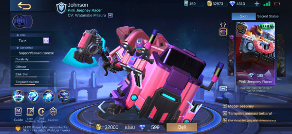 Pink Jeepney Racer (Painted Skin Johnson)
