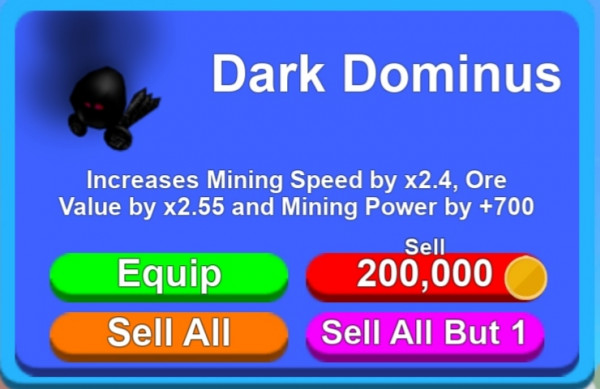 Hats Dark Dominus | Mining Simulator