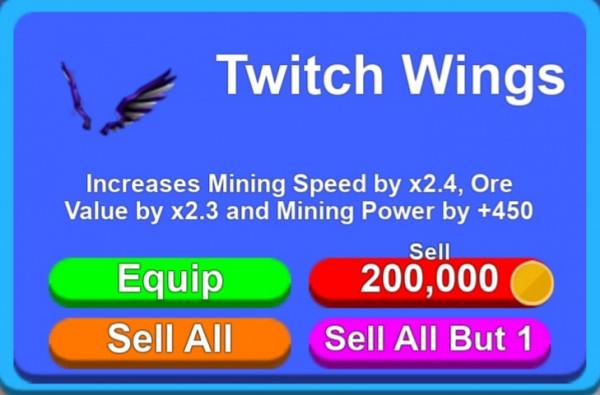 Twitch Wings | Mining Simulator