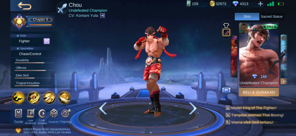 Undefeated Champion (Painted Skin Chou)