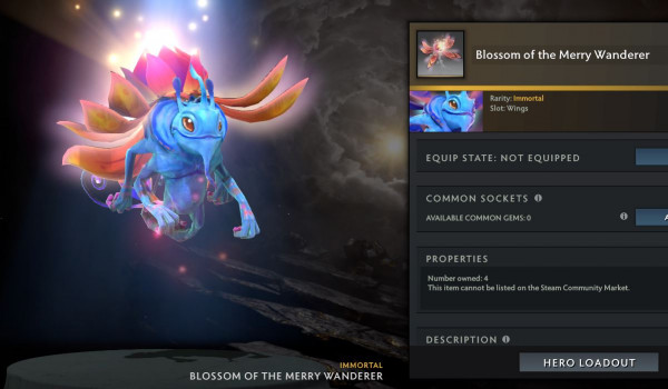 Blossom of the Merry Wanderer (Immortal TI10 Puck)