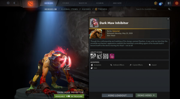 Dark Maw Inhibitor (Immortal TI 10 Lifestealer)