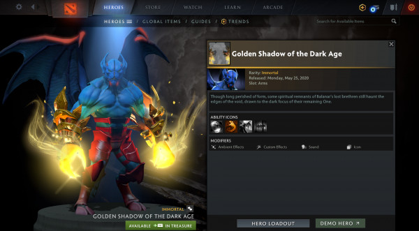 Golden Shadow of the Dark Age (Immo Night Stalker)